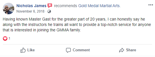 Adult 3 Testimonial Gold Medal Martial Arts, Gold Medal Martial Arts in Santa Clarita CA