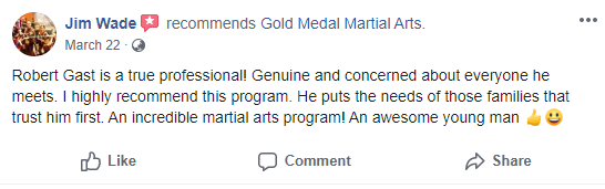 Adult 4 Testimonial Gold Medal Martial Arts, Gold Medal Martial Arts in Santa Clarita CA